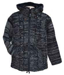 ultrawarm - detachable hood - cable jacket - Charcoal