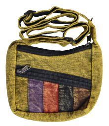 Small panelled - long handled bag - Green