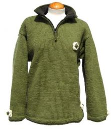 Fleece lined - ladies pull on - Green