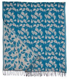 Drops - Blanket/Shawl - Teal