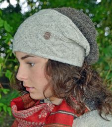 Fjord slouch - pale grey/marl brown