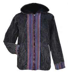 Gheri border edge jacket - Black/blue-purple