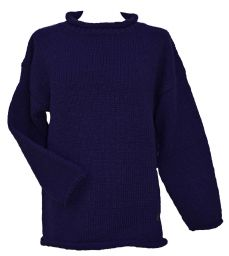 hand knit jumper - Blue
