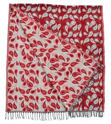 Drops - Blanket/Shawl - Red