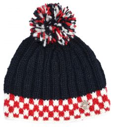 Pure wool - His 'n' Hers Bobble - Black/red/white