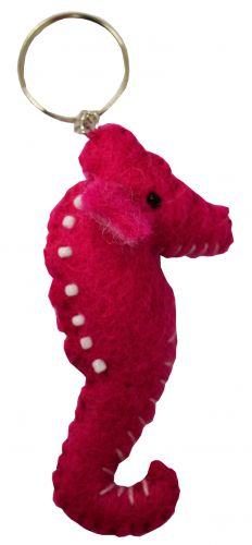 Felt - Keyring - Seahorse - Pink