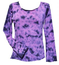 Tie Dye - Anytime - long sleeve top - Purple