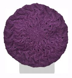 Half fleece lined - scroll beret - Heather