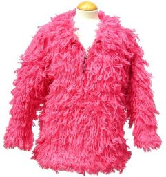 Fleece lined - shaggy jacket - Pink