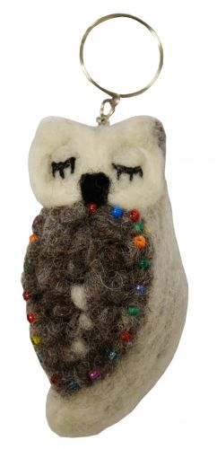 Felt - Keyring - Sleepy Owl