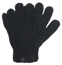 Fleece lined - pure wool gloves - Charcoal