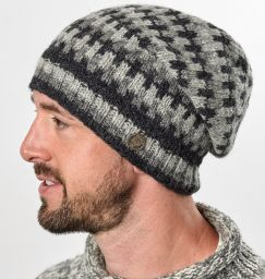 Pure wool - geometric slouch - Greys
