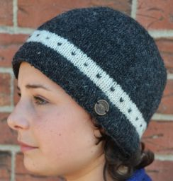 classic -  single tick beanie - charcoal