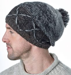 X Slouch - Hand knit -  Classic greys