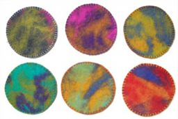Hand felted reversible Coasters