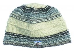 Pure wool - ridge beanie - Natural