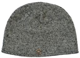 Easy beanie - fully lined - plain mid grey