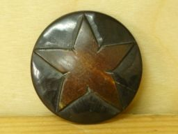 Hand worked - Dark star - Round Button