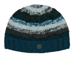 Pure wool - electric beanie - Teal