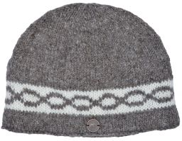 Hand knit - classic twist beanie - soft brown