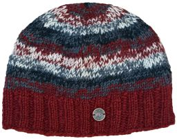 Pure wool - electric beanie - Brick red