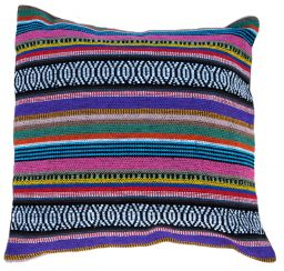 Filled Cushion - Cotton Gheri Front - Plum