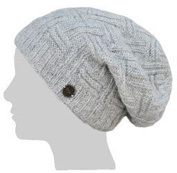 Basket weave slouch - Pale natural