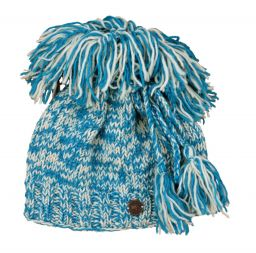 Pure wool - shaggy tie top hat - Turquoise