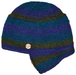 Half fleece lined - Helmet Hat - Blue/Teal