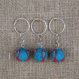 Fish Keyring - Blue/Orange