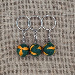 Leaf Keyring - Green/Yellow