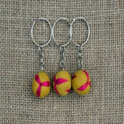 Leaf Keyring - Yellow/Pink