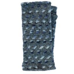 Fleece lined wristwarmer - wings - grey/blues