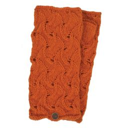 Naya - hand knitted - scroll - wristwarmer - Pumpkin