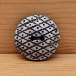 Interesting - hand carved - harlequin - button