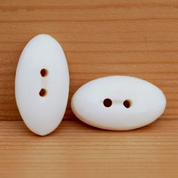 Smooth carved - cream oval - button