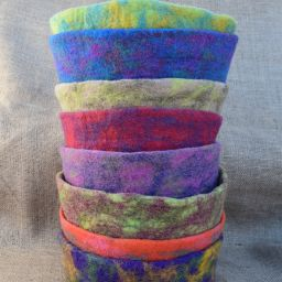 Hand made felt - bowl - assorted