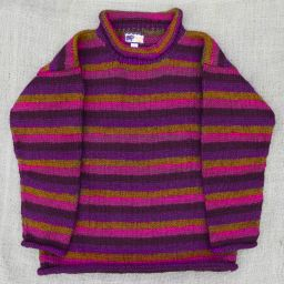 One off wonder - deep purple/warm brown/maroon stripes