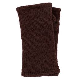 Children's Fleece Lined plain Wristwarmers - grape