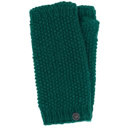 Pure wool - moss stitch wristwarmer - teal