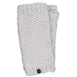 Pure wool - moss stitch wristwarmer - cream