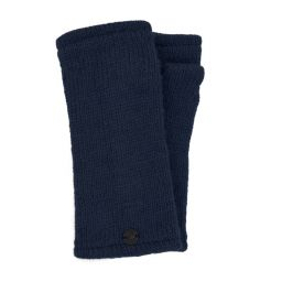 Fleece lined wristwarmer - Plain - Denim blue
