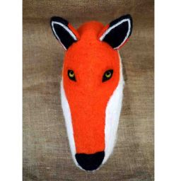Animal head - hand felted - Fox