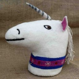 Animal head - hand felted - Unicorn