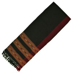 Narrow scarf - arrow - black