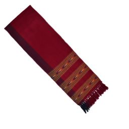 Narrow scarf - arrow - deep maroon