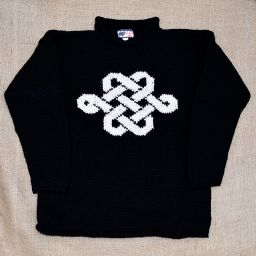 One off wonder - eternal knot - black