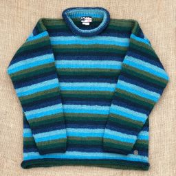 One off wonder - stripe - turquoise/green/blue