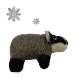 Hand made Felt - Christmas decoration - badger