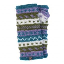 NAYA - hand knit - pattern - wristwarmer - Meadow